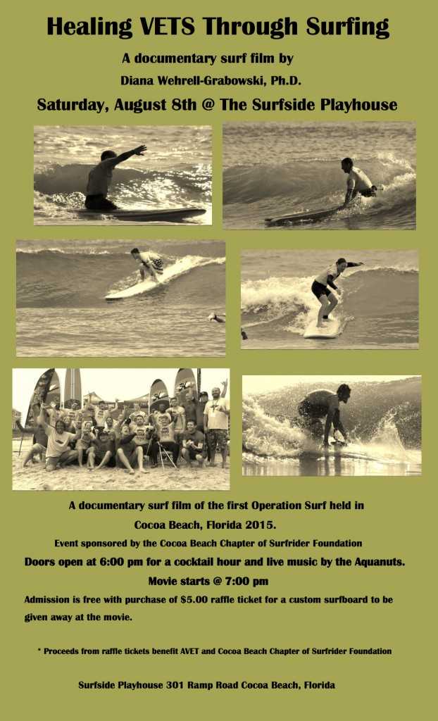 Healing VETS Through Surfing Movie Poster August 2015 CB  Surfrider (1)
